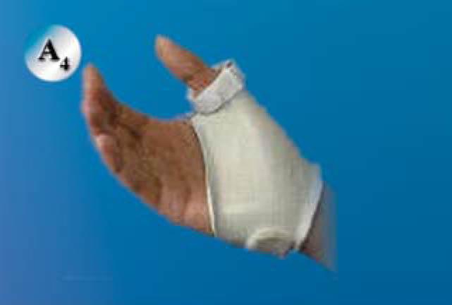 Rigid thumb spica: اسپیلنت اسپایکای ترمو پلاستیکی